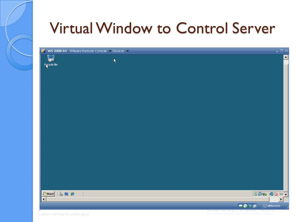 Virtual Window to Control Server