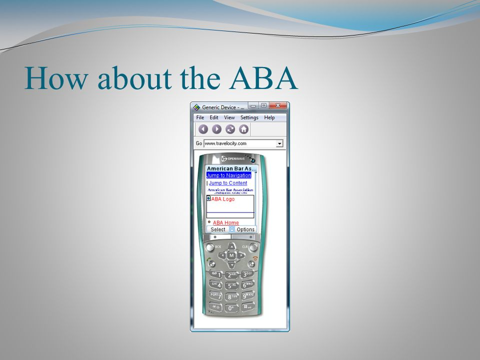 How about the ABA