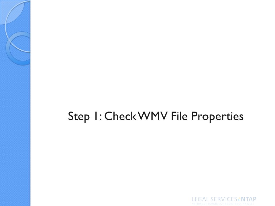 Step 1: Check WMV File Properties