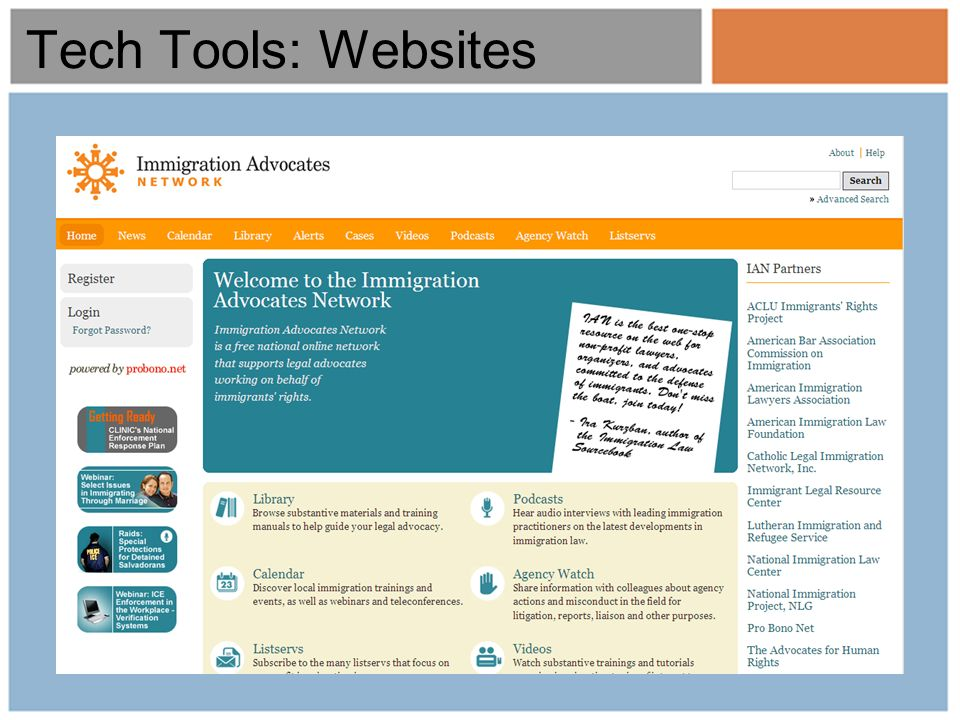 Tech Tools: Websites