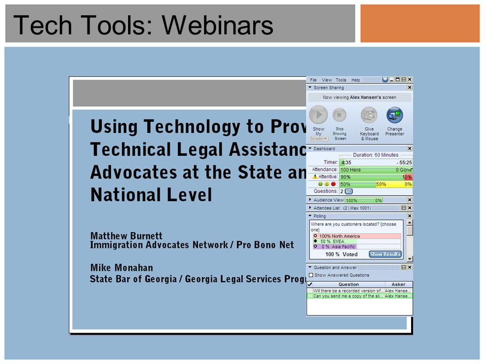 Tech Tools: Webinars