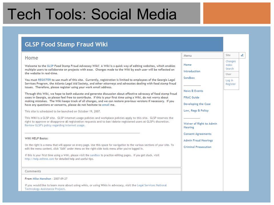 Tech Tools: Social Media