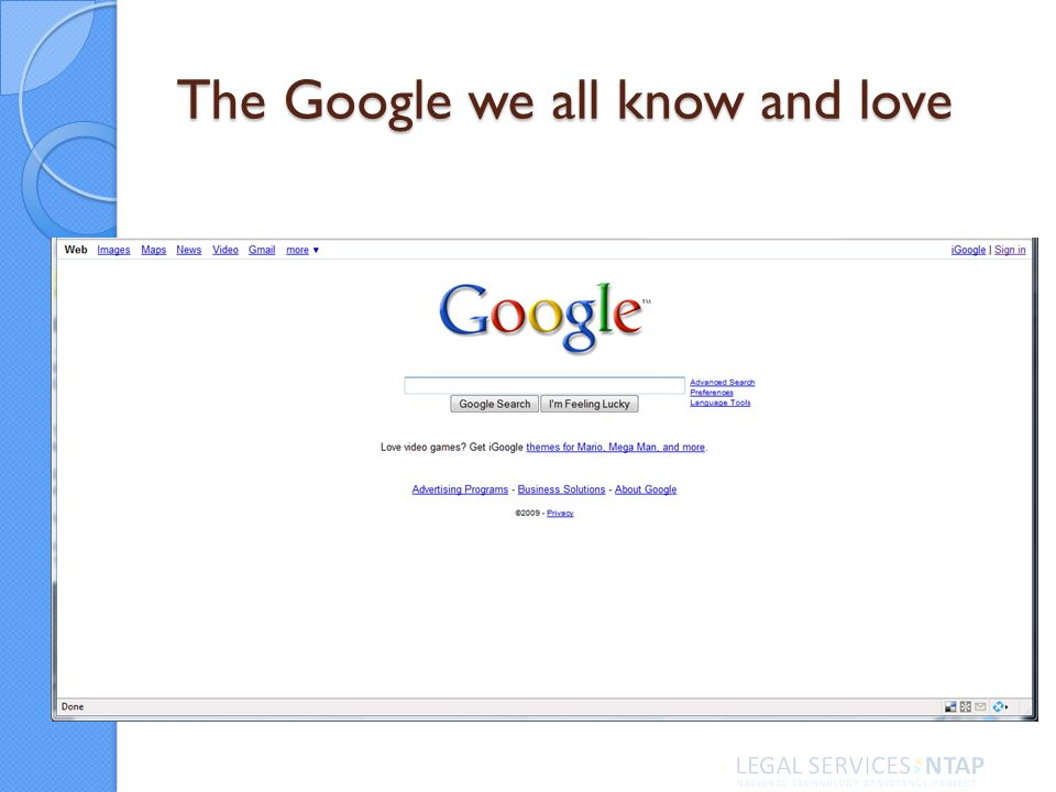 The Google we all know and love