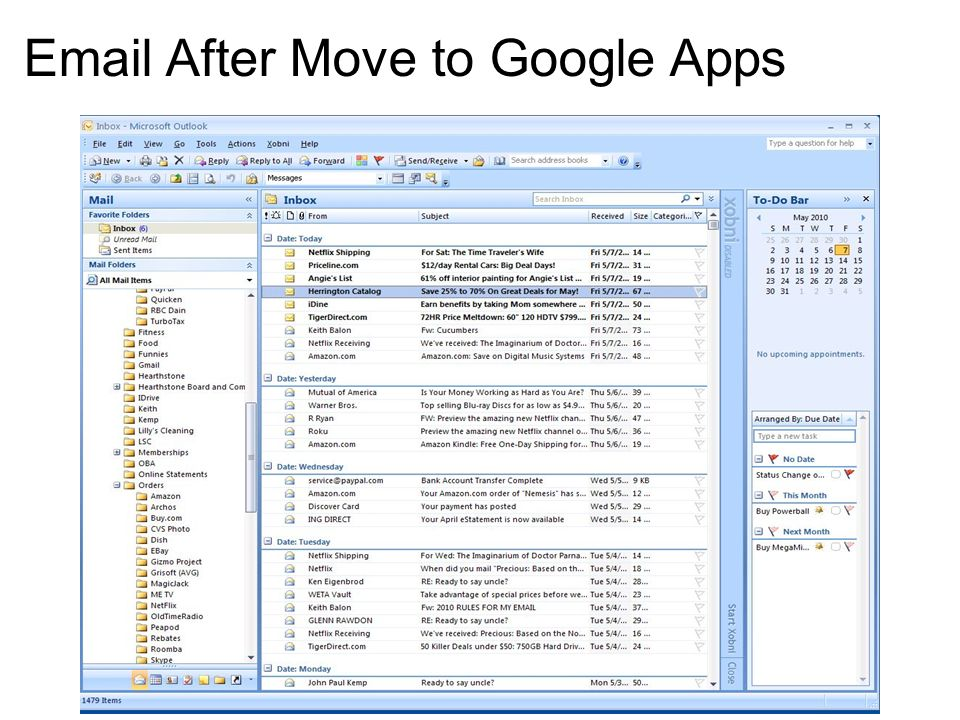 Email After Move to Google Apps