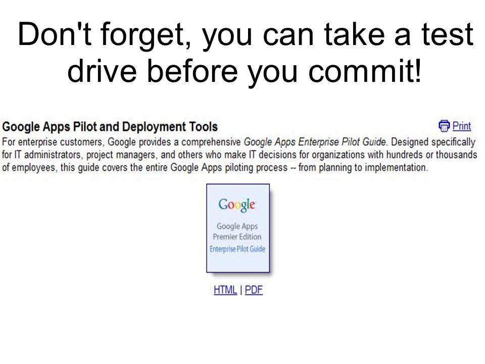 Don't forget, you can take a test drive before you commit!