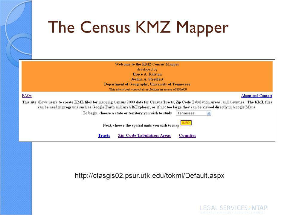 The Census KMZ Mapper http://ctasgis02.psur.utk.edu/tokml/Default.aspx