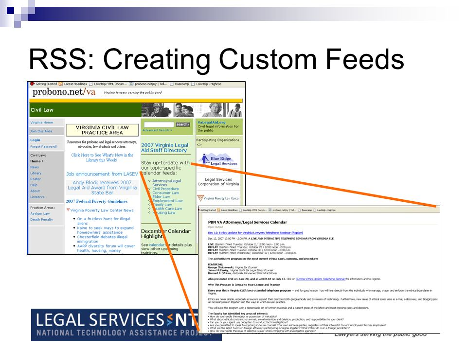 RSS: Creating Custom Feeds