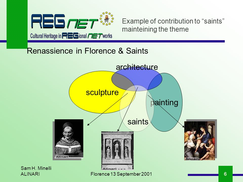 Sam H. Minelli ALINARIFlorence 13 September 20016 sculpture painting Example of contribution to saints mainteining the theme saints architecture Renas