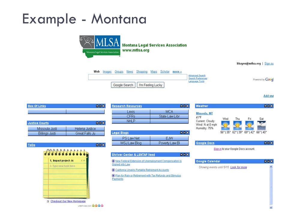 Example - Montana