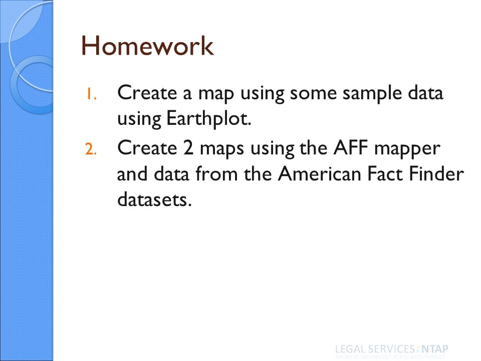 Homework 1. Create a map using some sample data using Earthplot.