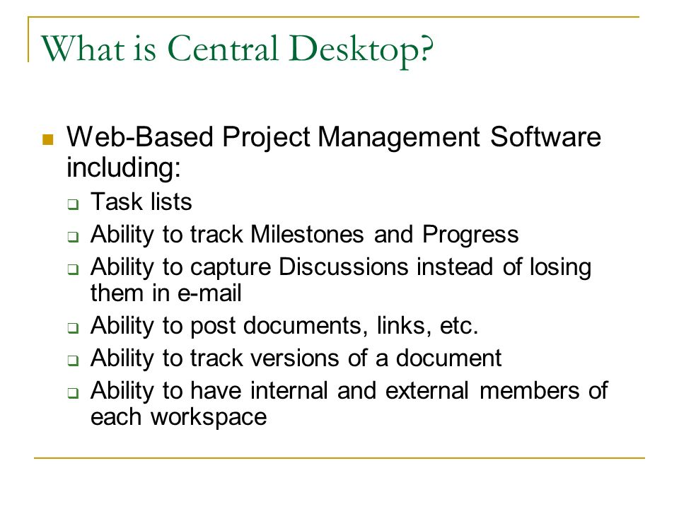 What is Central Desktop.
