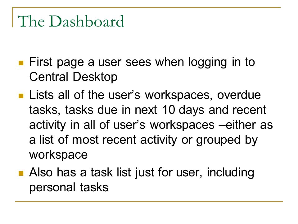 Workspace Demonstration Main Components of a Workspace Milestones Task Lists Docs and Discussions