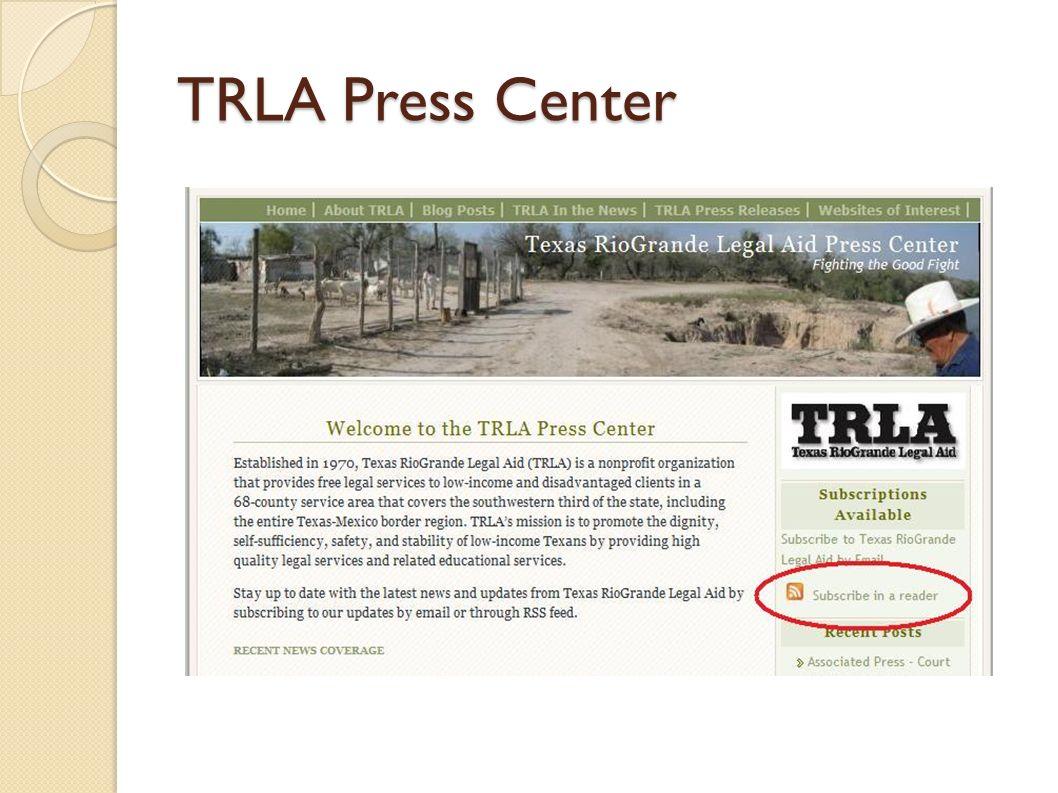 TRLA Press Center