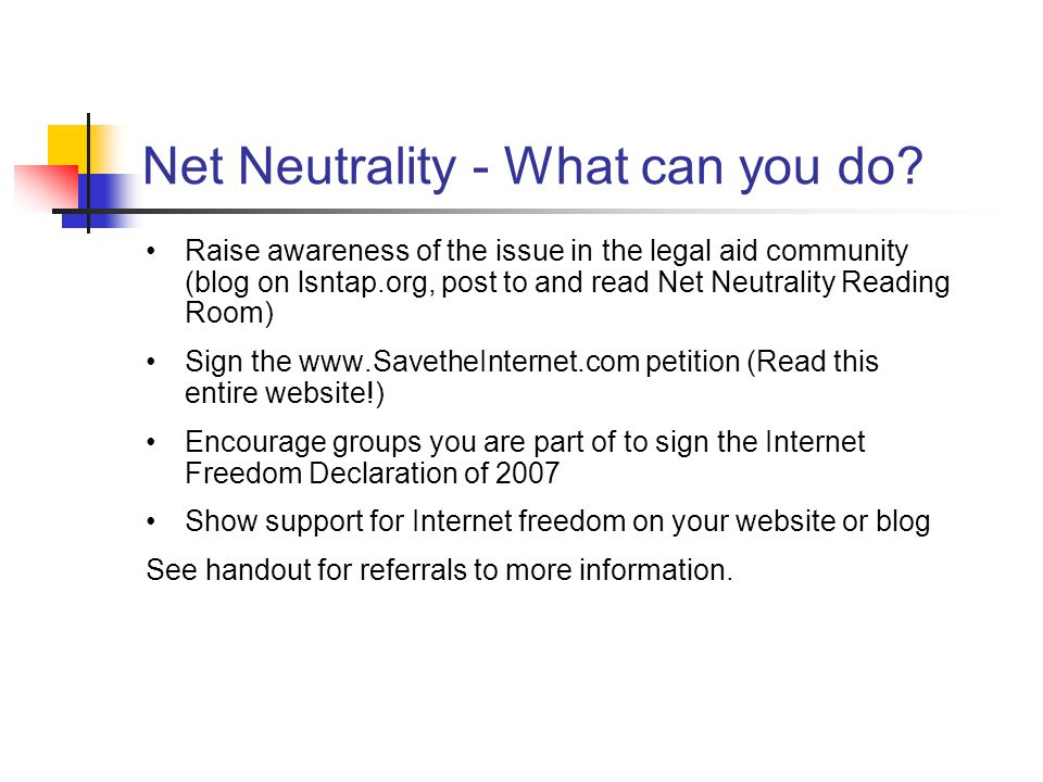 Net Neutrality - What can you do.