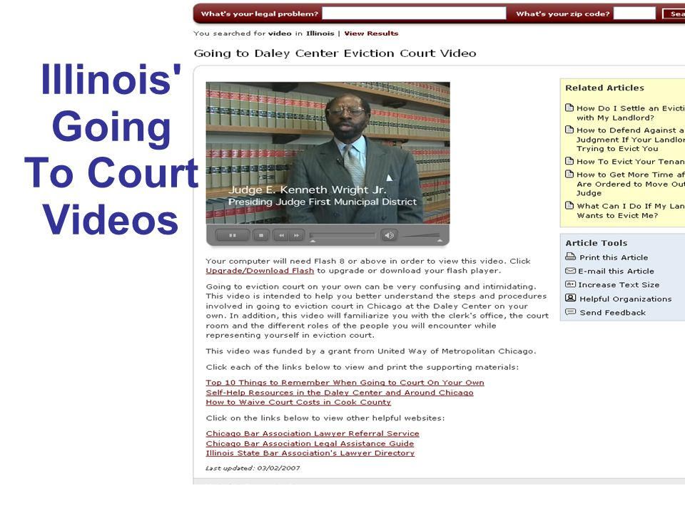 Illinois Going To Court Videos