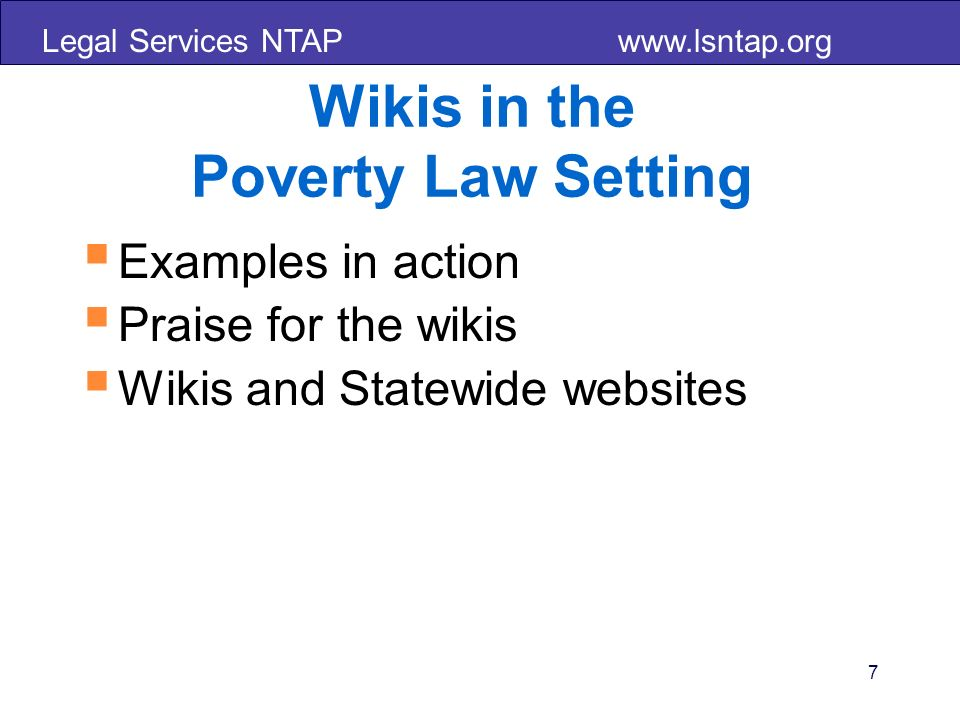 Legal Services NTAP www.lsntap.org 38
