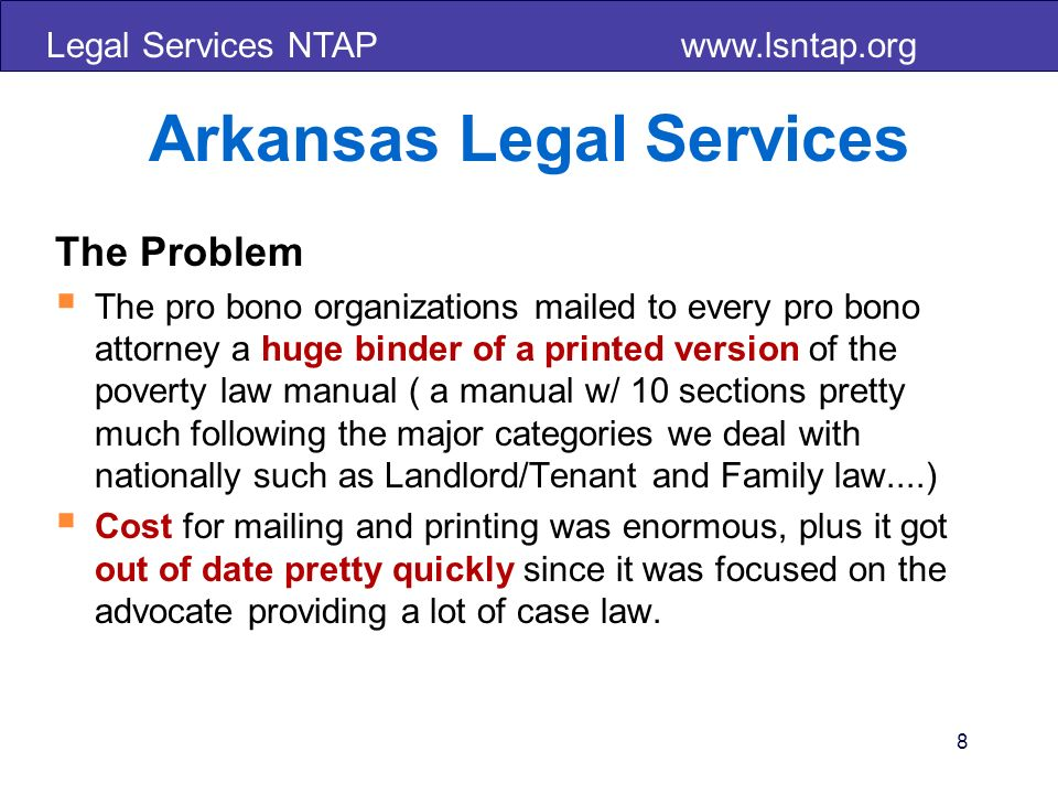 Legal Services NTAP www.lsntap.org 49