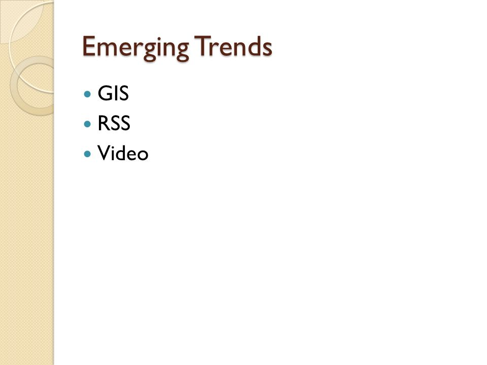 Emerging Trends GIS RSS Video