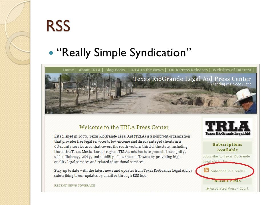 RSS Really Simple Syndication