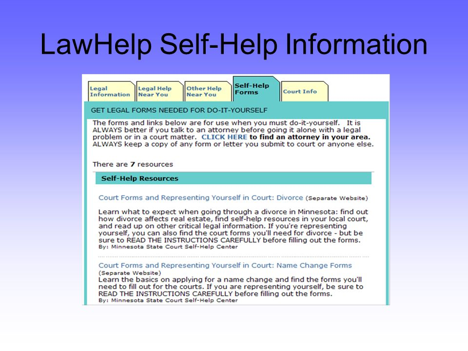 LawHelp Self-Help Information