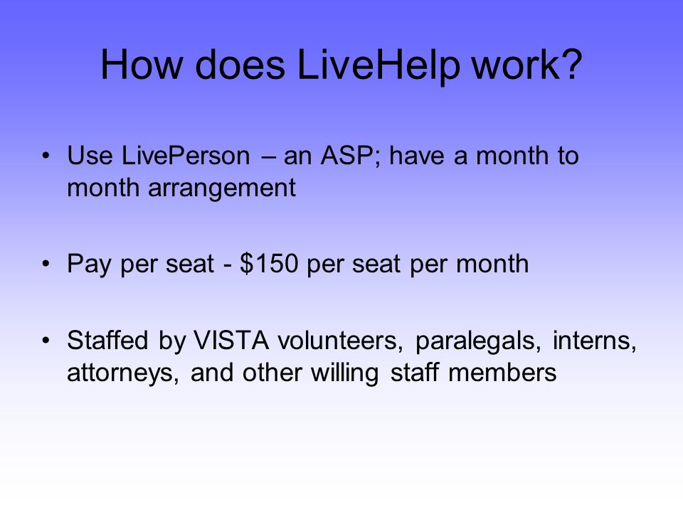 How does LiveHelp work.