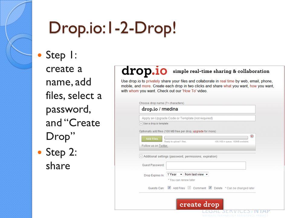 Drop.io:1-2-Drop.
