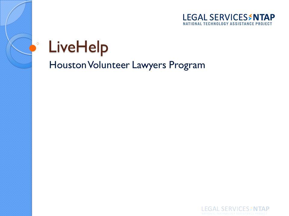 LiveHelp Houston Volunteer Lawyers Program