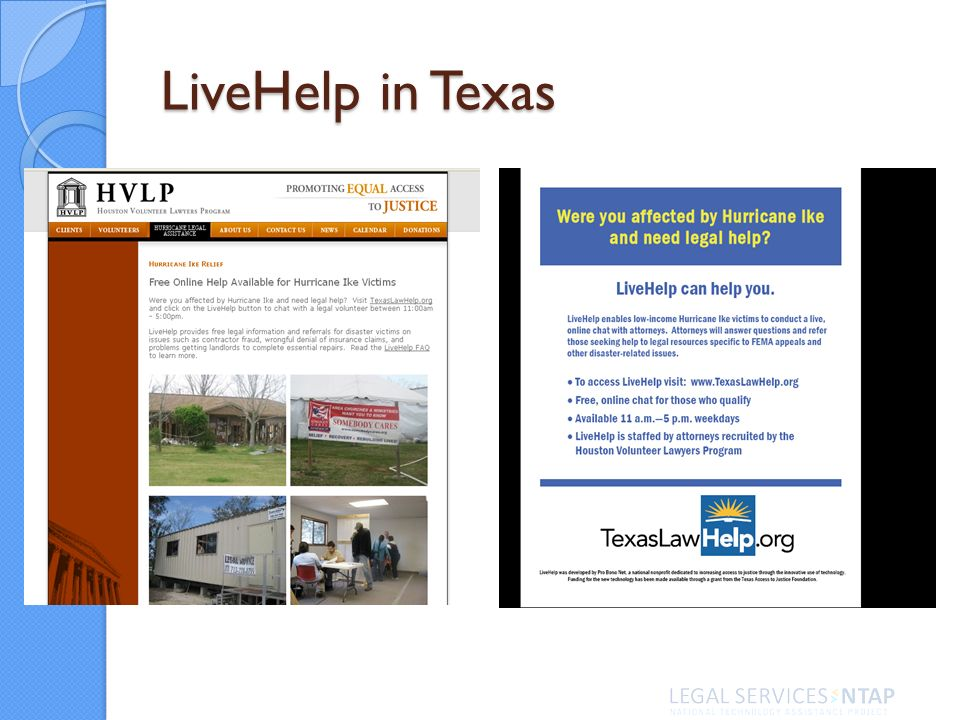 LiveHelp in Texas
