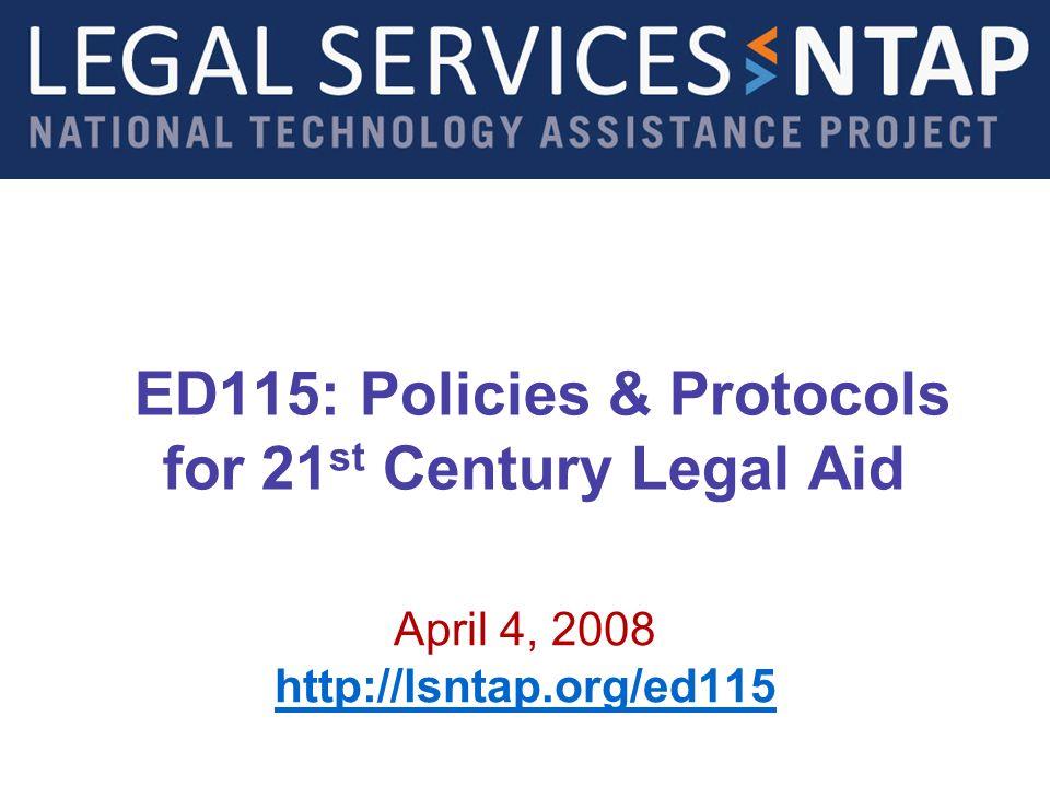 Legal Services NTAP www.lsntap.org Introduction 2 Gabrielle Hammond, Presenter Presenter, Gabrielle Hammond National Technology Assistance Project (NTAP)