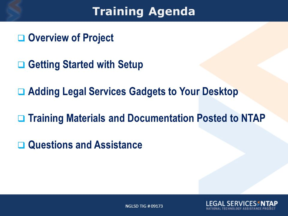 NGLSD - Overview TIG awarded to Community Legal Aid Services (CLAS) in Akron, Ohio in 2010.