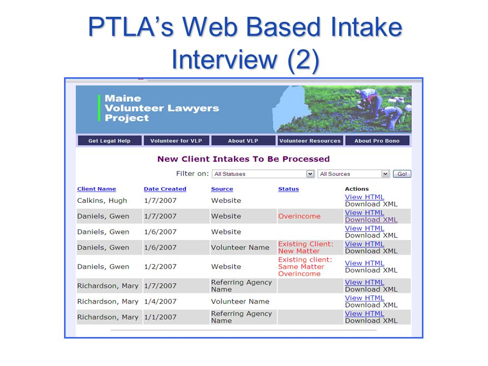 PTLAs Web Based Intake Interview (2)