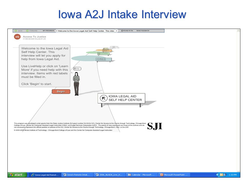 Iowa A2J Intake Interview