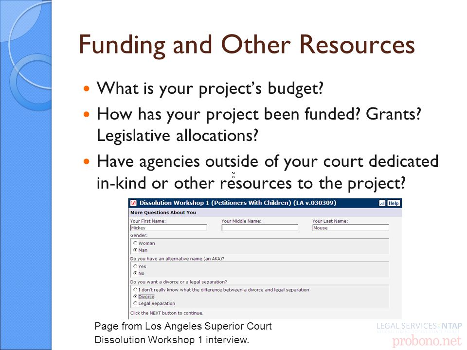 Funding and Other Resources What is your projects budget.