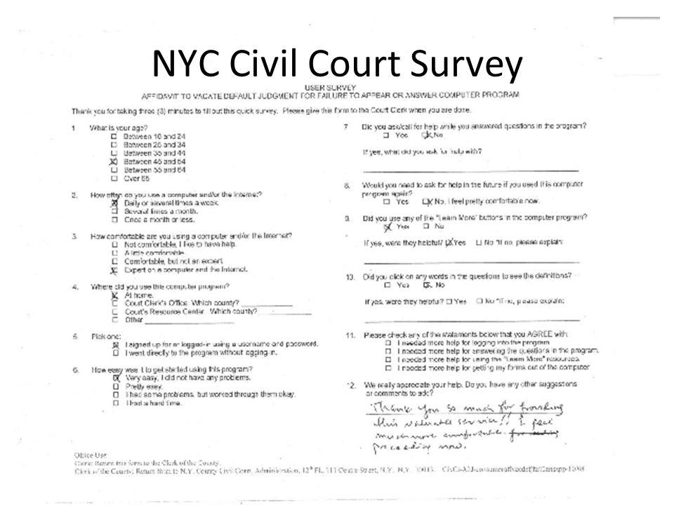 NYC Civil Court Survey