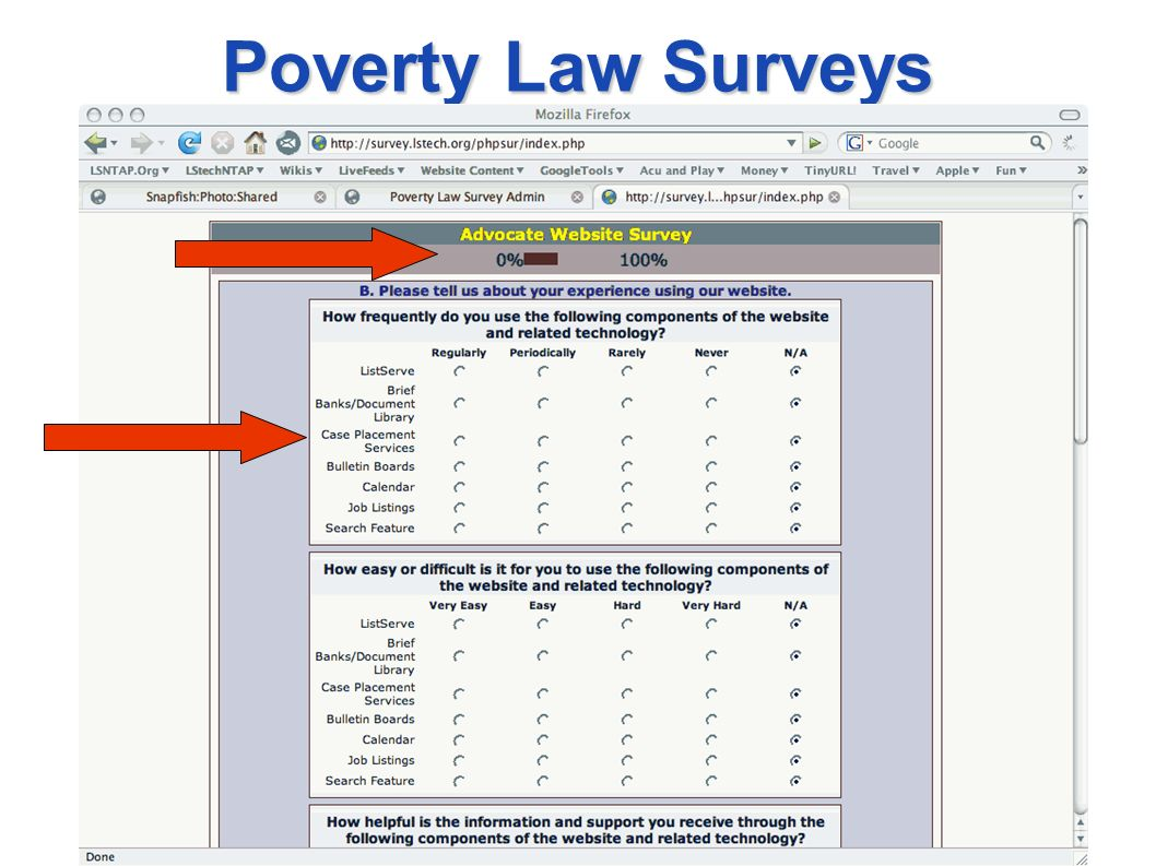 Poverty Law Surveys