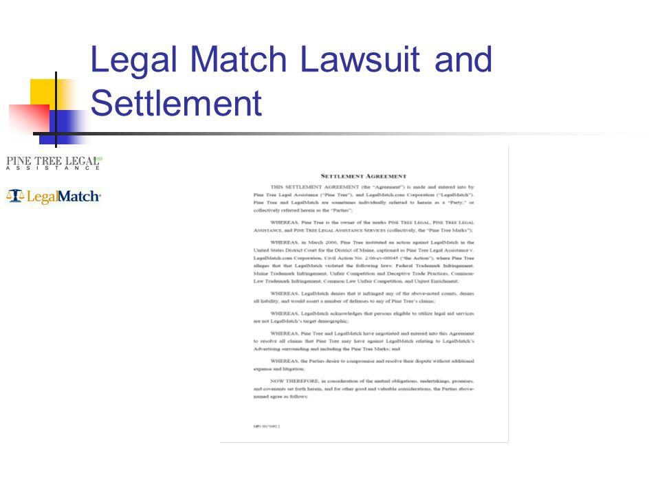Legal Match Lawsuit and Settlement