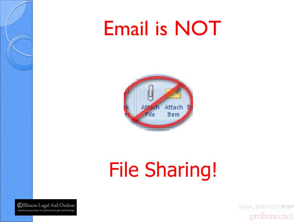 is NOT File Sharing!