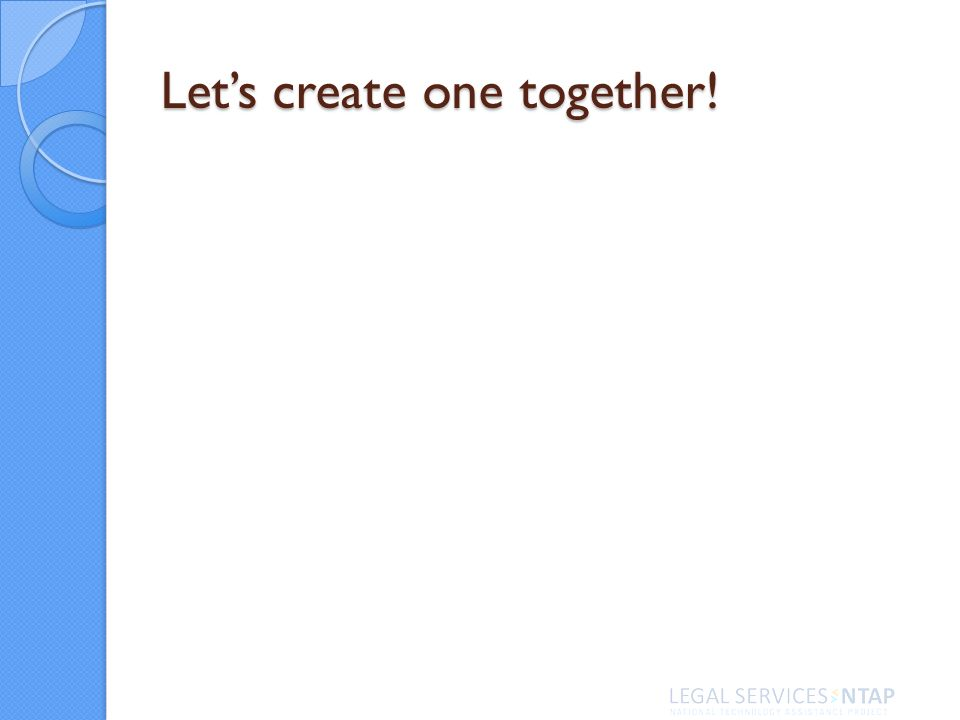 Lets create one together!