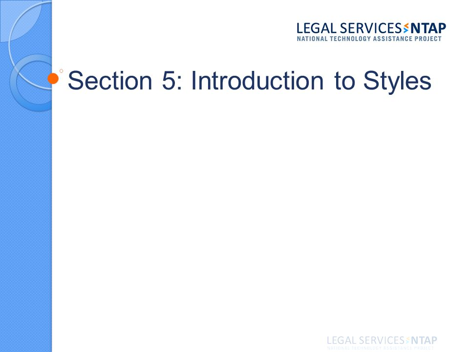 Section 5: Introduction to Styles