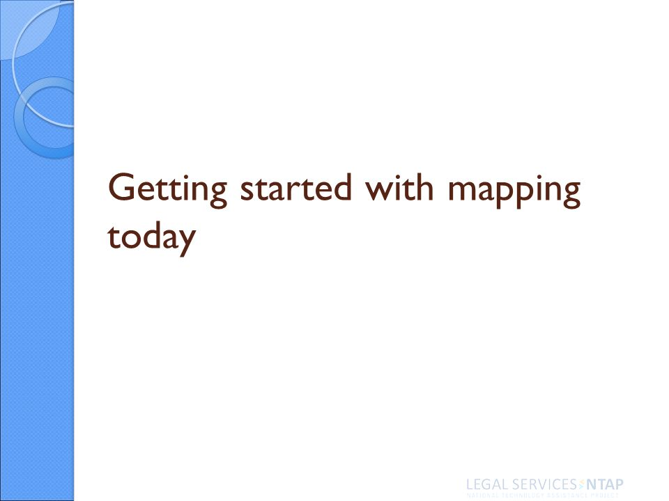 Getting started with mapping today