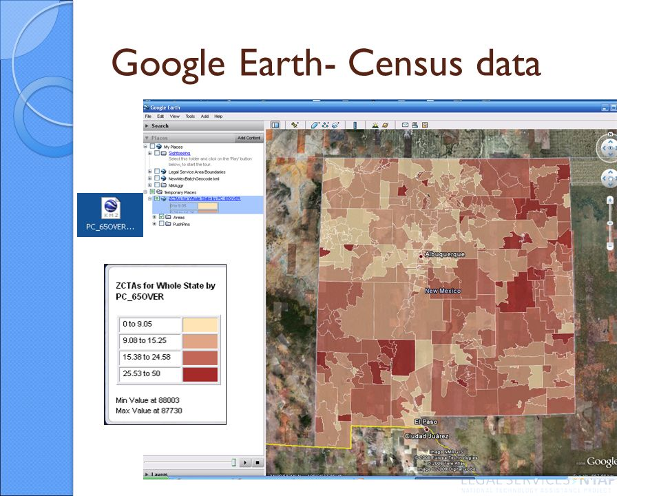 Google Earth- Census data