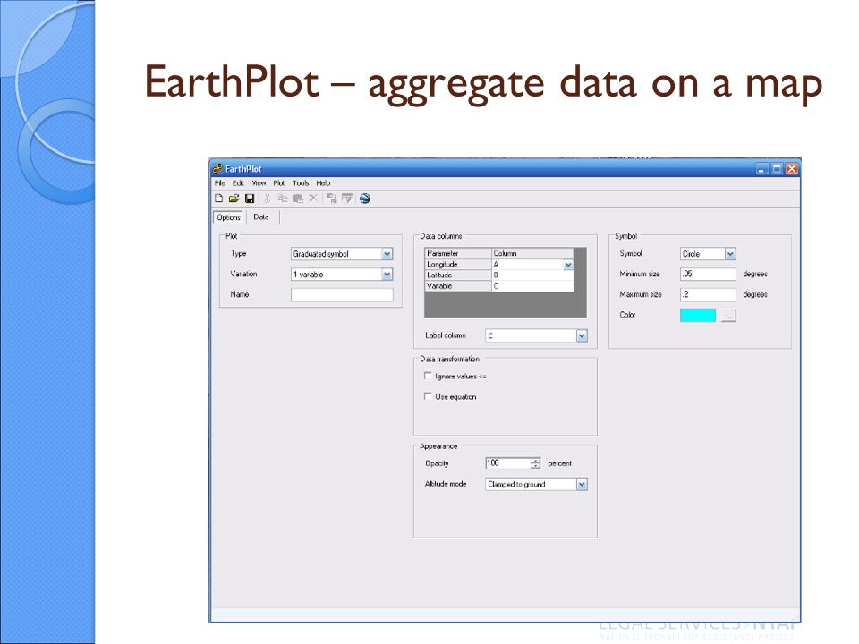 EarthPlot – aggregate data on a map