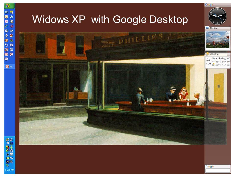 Widows XP with Google Desktop