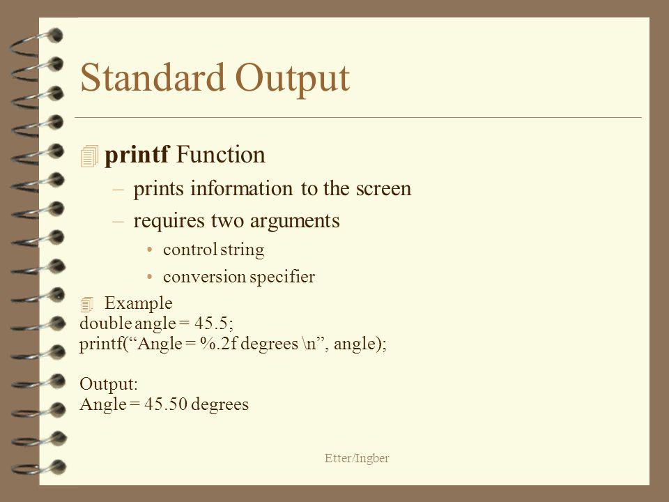 Standard Input and Output