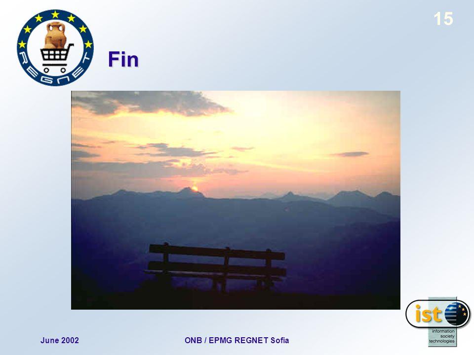 June 2002ONB / EPMG REGNET Sofia 15 Fin
