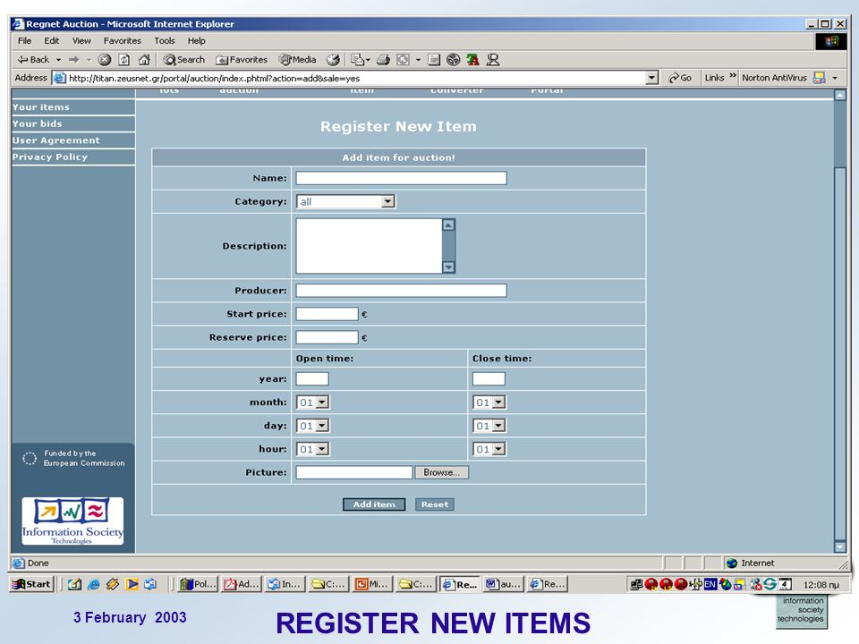 3 February 2003 14 REGISTER NEW ITEMS