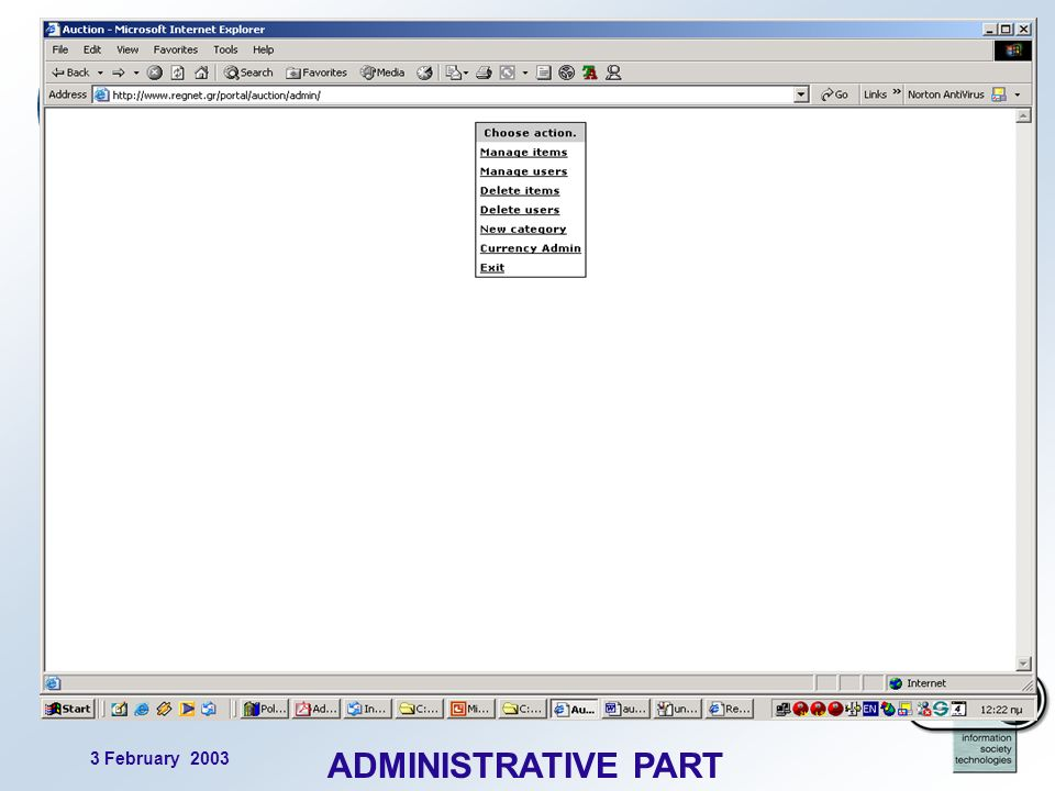 3 February 2003 20 ADMINISTRATIVE PART