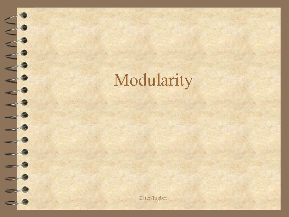 Etter/Ingber Modularity