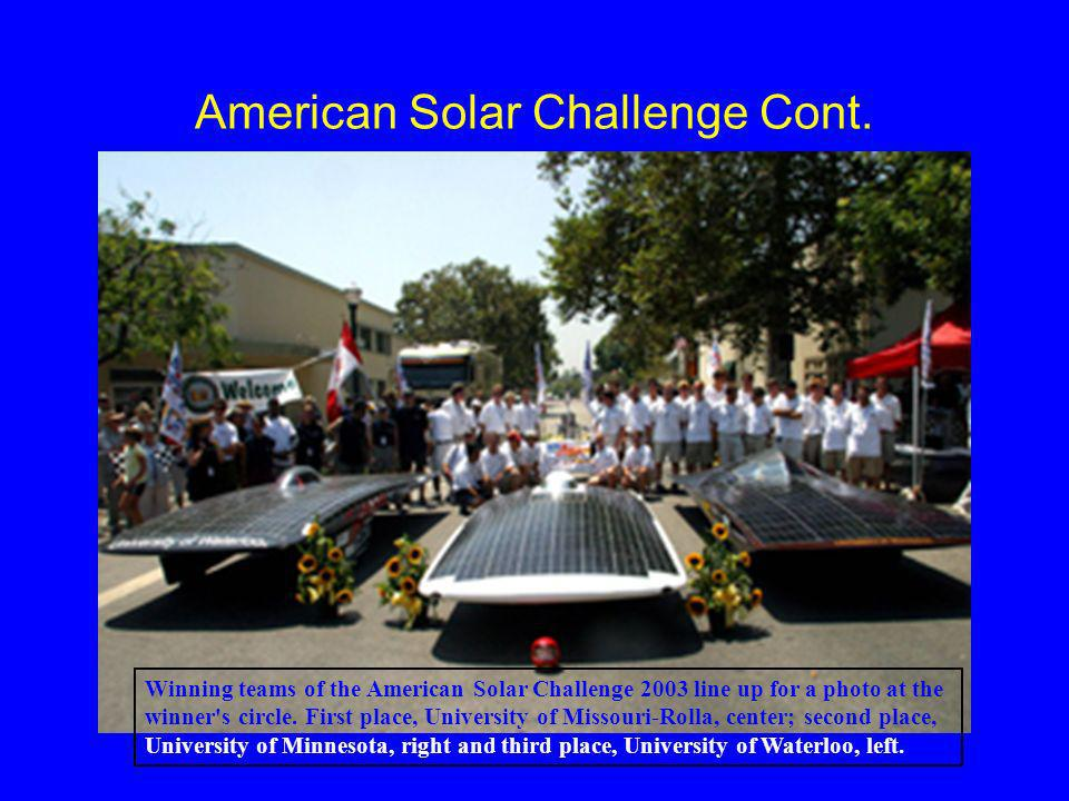 American Solar Challenge Cont.