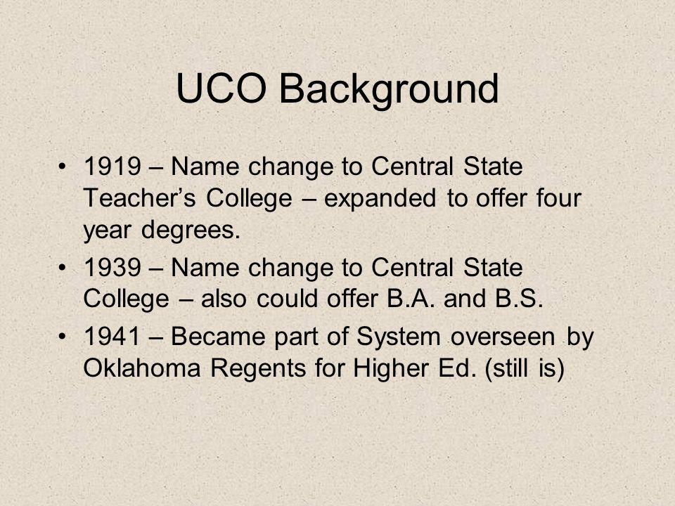 UCO Background ???.
